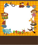 Cartoon kid toy card. Vector drawing Stock Photography