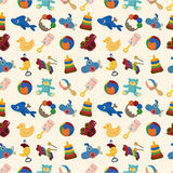 Cartoon kid toy seamless pattern. Drawing Royalty Free Stock Images