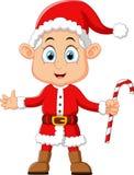 Cartoon kid wearing santa costum Stock Photo