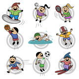 Cartoon kids Royalty Free Stock Images