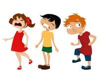 Cartoon kids. Vector set of cartoon kids Stock Photos