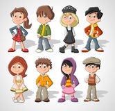 Cartoon kids Royalty Free Stock Image