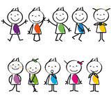 Cartoon kids. Cute and colorful happy cartoon kids, abstract Royalty Free Stock Image