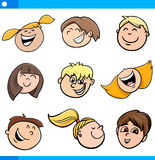 Cartoon kids characters set Royalty Free Stock Image