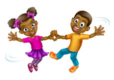 Cartoon Kids Dancing Stock Photography