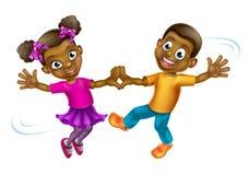 Cartoon Kids Dancing Stock Photography