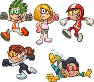 Cartoon kids from the future royalty free illustration