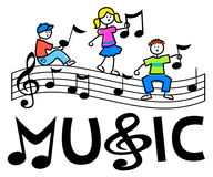 Cartoon Kids Musical Bar/eps Royalty Free Stock Image