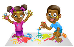 Cartoon Kids Painting