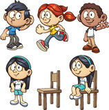 Cartoon kids stock illustration