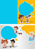 Cartoon kids playing Stock Image