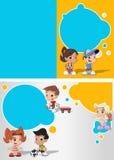 Cartoon kids playing Stock Image