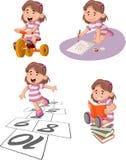 Cartoon kids playing Royalty Free Stock Photography