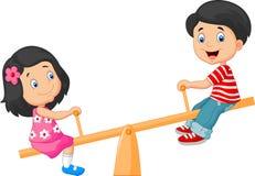 Free Cartoon Kids See Saw Royalty Free Stock Image - 53892756