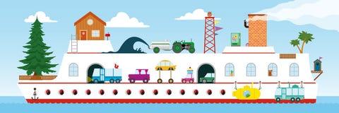 Cartoon kids ship design Royalty Free Stock Photography