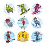 Cartoon kids Sport set Vector Clip Art Stock Photos