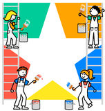 Cartoon Kids Teamwork Background/eps royalty free illustration