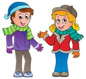 Cartoon kids theme image 1 Stock Image