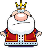 Cartoon King Bored Royalty Free Stock Images