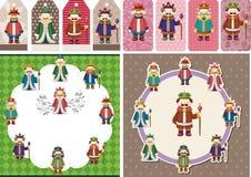Cartoon king card Royalty Free Stock Image
