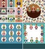 Cartoon king card Royalty Free Stock Images