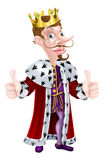 Cartoon King Character Stock Photography