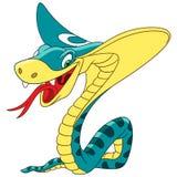Cartoon king cobra snake vector illustration