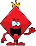 Cartoon King of Diamonds Waving Stock Image