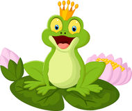 Cartoon king frog Royalty Free Stock Photography