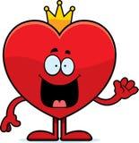 Cartoon King of Hearts Waving Stock Photography