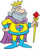 Cartoon king holding a scepter. Stock Photos