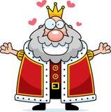 Cartoon King Hug. A happy cartoon king ready to give a hug Stock Photo