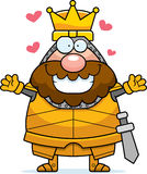 Cartoon King Hug Stock Image