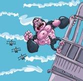 Cartoon King Kong Hanging On Royalty Free Stock Photos