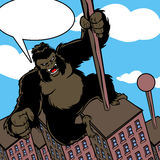 Cartoon King Kong with speech bubble Royalty Free Stock Photography
