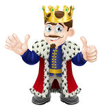 Cartoon King Mascot Stock Images