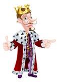 Cartoon King Mascot Royalty Free Stock Images