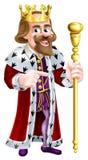 Cartoon King Pointing Stock Photo