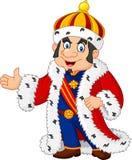 Cartoon king presenting isolated on white background Stock Image