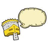 cartoon king's armor with speech bubble Stock Photo