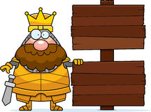 Cartoon King Sign Royalty Free Stock Images