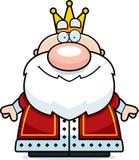 Cartoon King Smiling Stock Image