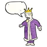 cartoon king with speech bubble Royalty Free Stock Photo