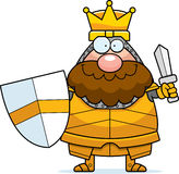 Cartoon King Sword Stock Images