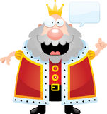 Cartoon King Talking. A cartoon illustration of a king talking Stock Photos