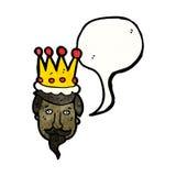 cartoon kings head Stock Photography