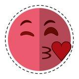 Cartoon kiss love emoticon funny Royalty Free Stock Photo