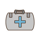 Cartoon kit first aid cross emergency medical design Royalty Free Stock Photo