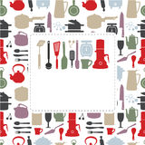 Cartoon kitchen card Royalty Free Stock Photo