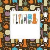 Cartoon kitchen card Royalty Free Stock Photos